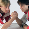 mayhap: Johnny Weir and Evgeny Plushenko armwrestling (armwrestle)