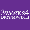"amadi: Text icon reading: ""3weeks4 Dreamwidth"" celebrating the annual content festival (3W4DW)"