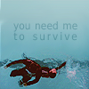 "tsukinofaerii: Derek and Stiles in the pool with the caption ""you need me to survive"" (Teen Wolf: You need me to Survive)"
