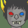 chairman_wow: Sollux from Homestuck, showing off oversized fangs in a smile (sollux)