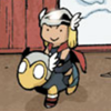 terabient: baby Thor riding baby Beta Ray Bill (Marvel: Thor & Beta Ray Bill)