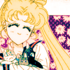 apollymi: Usagi holding Luna, Artemis, and Diana, no text (BSSM**Usagi: Kitties!)