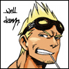 tyger: (KH!)Cid, smirking.  Text: ...well damn. (Cid - Well damn)