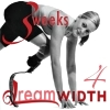 "rydra_wong: Aimee Mullins crouches to sprint on carbon-fiber prosthetic legs. Text: ""3 weeks 4 Dreamwidth."" (3W4DW -- mullins)"