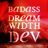"denise: text: ""badass dreamwidth dev"" (badass dw dev)"
