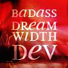 "denise: text: ""badass dreamwidth dev"" (badass dw dev)"