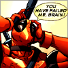 littleyellowboxes: Deadpool clutching his head in despair (Brainfail)