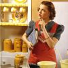 telesilla: 1950s woman in kitchen (cooking)
