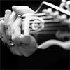 delphinapterus: Frank's fingers on guitar neck (guitar frets)