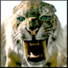 needled_ink_1975: snarling Smilodon (pissed off)