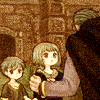 guardians_song: Part of Fire Emblem 7's Chapter 19xx CG, colored (Nergal and children)