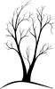 anda: A tree I sketched (Tree - two trunk)