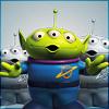 eleanorjane: Little Green Three-Eyed Alien (the claw)