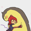 hardcorz: Silver and Typhlosion from Pokemon, hugging. (Silver hug)