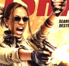 sobsister: Zoe Saldana yelling and firing two guns. (Default)