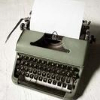 onyxlynx: Manual greenish typewriter (Typewriter)