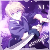 "veleda_k: Hisoka from Yami no Matsuei. Text says, ""Strength."" (Yami no Matsuei: Hisoka strength)"
