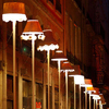 swaldman: Cosy table lamps, in a row, outdoors (lights)