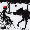 auburn: medieval style illo of wolf and man (Wolf and Man)