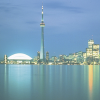 skieswideopen: The Toronto skyline over Lake Ontario (Toronto)