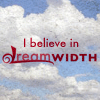"mark: Text ""I believe in Dreamwidth"" set against clouds. (dw)"