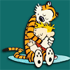 busaikko: Calvin and Hobbes hugging (* hug)