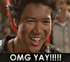 "merisunshine36: rufio from hook with ""omg yay!"" at the bottom (rufio yay)"