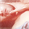 mrstotten: Teen Wolf: Close-crop of Stiles' hand on Derek's face in 1x04. (TW → please don't kill me please don't k)