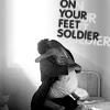 "mrstotten: Sarah Connor and Kyle in the sylum, ""On your feet, soldier."" (OTP FOREVER)"