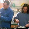 eruthros: The Sentinel - a screencap of Blair and Jim getting breakfast ready (TS - Blair and Jim cooking)
