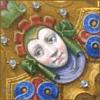 outlineofash: Artwork of a smiling saint. (Smile - Smiling Saint)