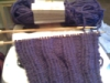 ambersweet: Purple knitted scarf, in progress (Knitting)