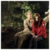 thedivinegoat: River holding Amy in the forest (Doctor Who - River & Amy)