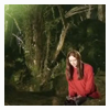 thedivinegoat: Amy sat on a rock alone in the forest (Doctor Who - Alone in the Woods)