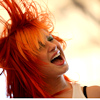originalpuck: Hayley Williams With Her Orange Hair Swinging, Grinning Wide (Happy Hayley)