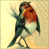 quillori: victorian illustration of a robin (occasion: christmas, subject: robin)