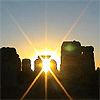 mokie: Stonehenge with the sun shining through the stones (holiday renewal)