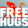 mokie: An octopus offering free hugs (love yay, love eh, touched, loved, love boo)