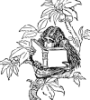 lazuli: reading chimp (reading chimp)