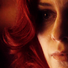 shopfront: Source: Smallville. Tess, close-up. (SV - [Tess] red like my heart's bleeding)