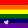 hiddenheart: Rainbow flag with small heart (Default)