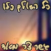 conuly: Fuzzy picture of the Verrazano Bridge. Quote in Cursive Hebrew (bridge)