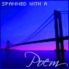 """conuly: A picture of the bridge at night. Quote: """"Spanned with a poem"""" (poem icondesperence, poem)"""