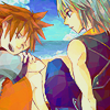 keybearer: (with Sora - hanging out)
