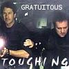 tacit: (John/Rodney gratuitous touching)