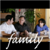 "fatoudust: ""family"" the three Eppes boys from Numb3rs, sitting at a family dinner table (family)"