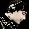 onthehill: Frank is listening to podfic on his headphones, with a little smile (podfic)