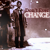 """solitarysloth: Two men standing in twilight by the side of a road, captioned by """"Don't ever change"""" (Dean/Castiel)"""