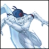 bewize: Iceman on a ice surfboard (X-men: Iceman Ultimate)