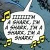 "ambersweet: Comic bubble, singing ""I'm a shark"" (sHARRRRK)"